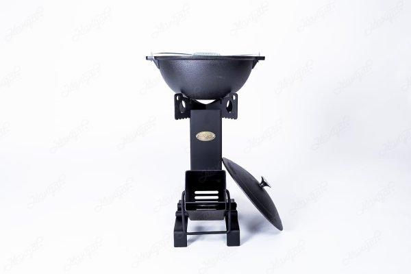 Cast Iron Kazan 6L-1.6Gal + Rocket Stove